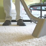 Closeup of special carpet cleaning equipment that removes stains